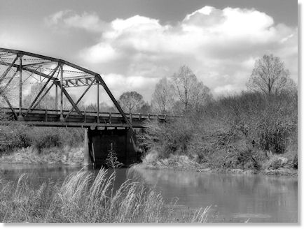 Bridge Photograph in Black and White