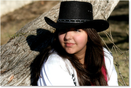Color Portrait Cowboy Hat
