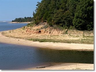 Plum Point Recreation Area on North Enid Lake, Mississippi