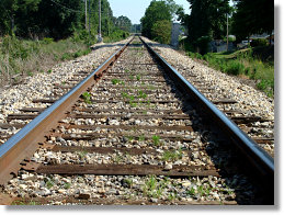 Perceptions in Photography Railroad Track Example.