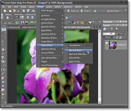 Corel Paint Shop Pro Photo X2 Photo Effects Screenshot